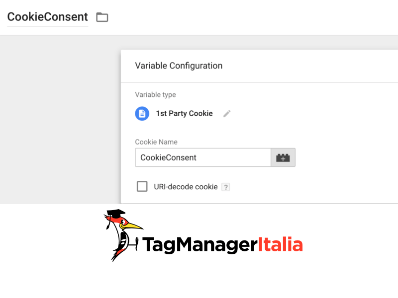 step 2 costante cookiesent google tag manager