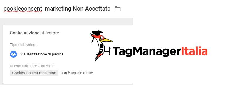 step 5 attivatori negativi cookiebot google tag manager