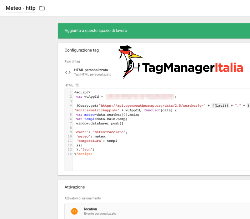 tag meteo http google tag manager