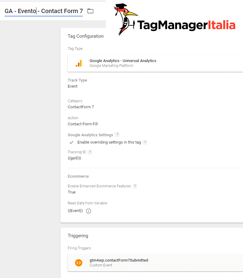 tag tracciare plugin contact form 7 google tag manager