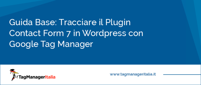 tracciare plugin contact form 7 wordpress google tag manager