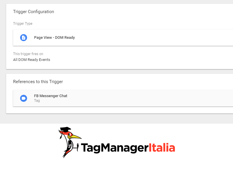 variabile installare chat facebook messenger su sito con google tag manager new