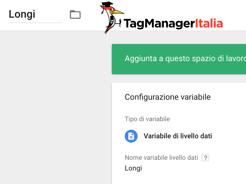 variabile longitudine meteo google tag manager