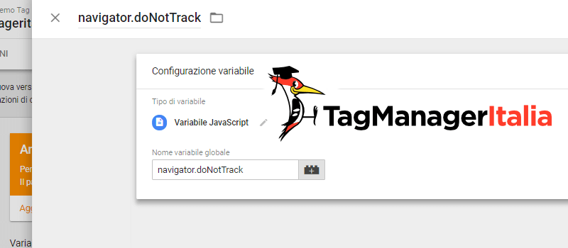 variabile tracciare do not track dnt google tag manager