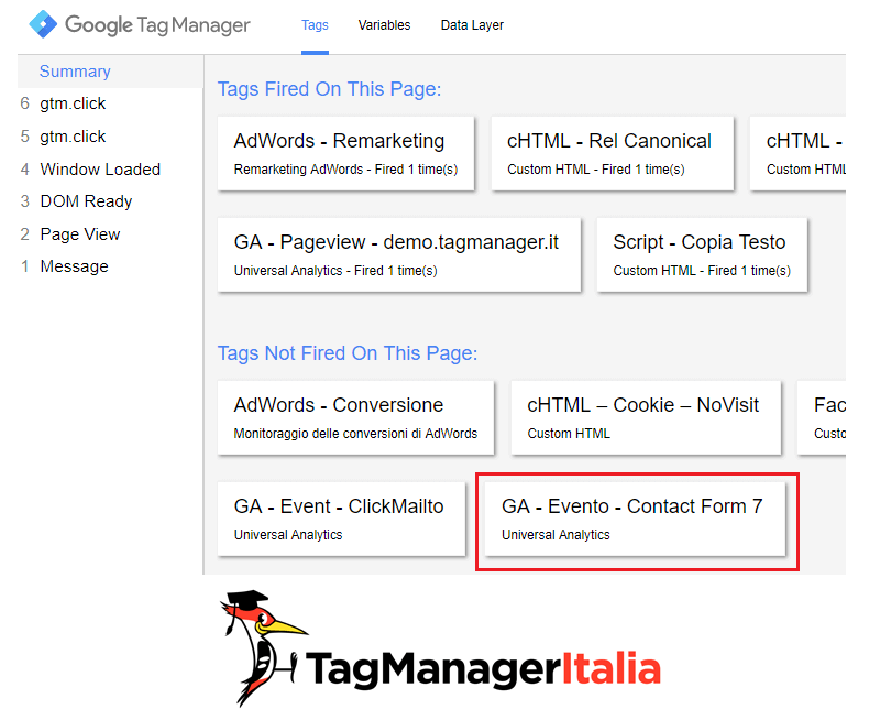 verifica1 tracciare plugin contact form 7 google tag manager