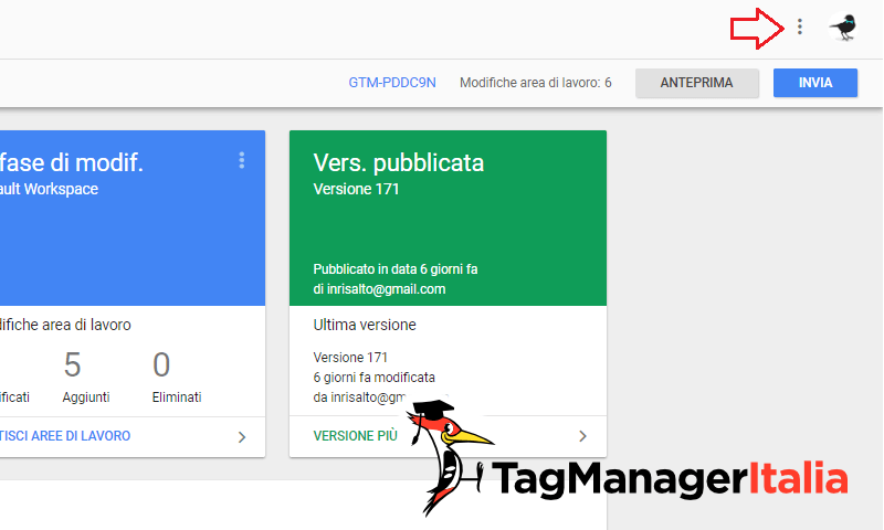 cambiare lingua google tag manager 1