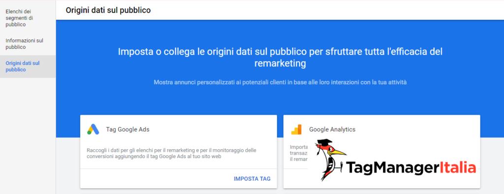 google ads gestione origini dati sul pubblico