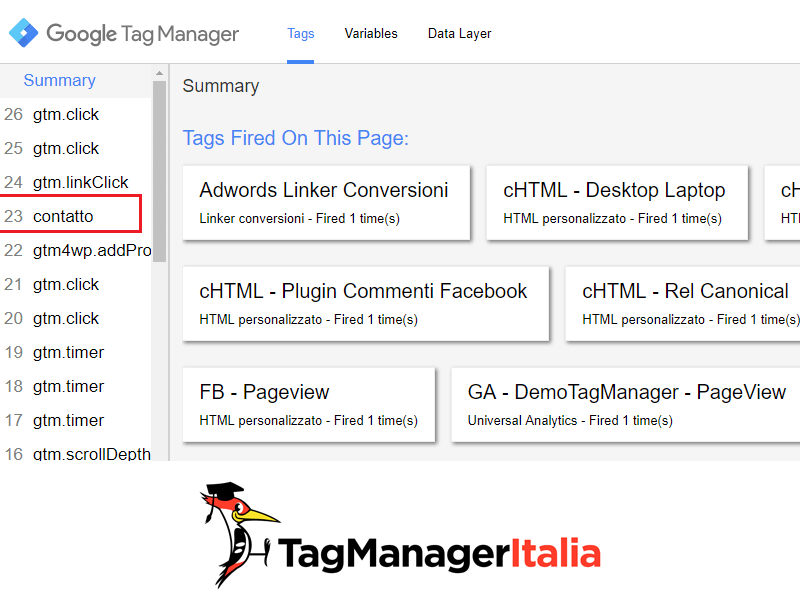 push evento data layer google tag manager2