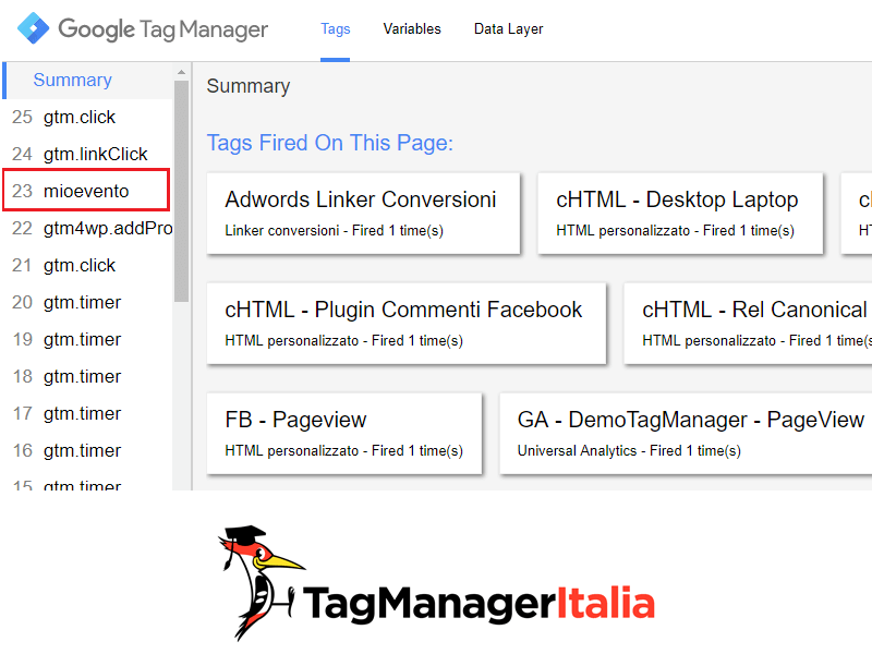 push evento data layer google tag manager3