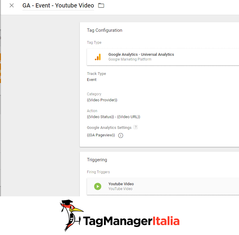 guida base google tag manager - tag google analytics video youtube tag