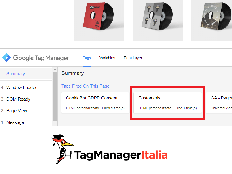 step 3 verifica debug customerly con google tag manager
