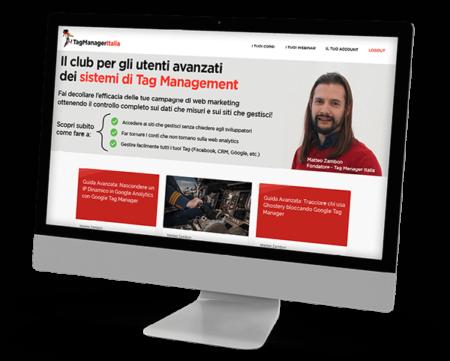 Schermata dashboard Club Tag Manager Italia