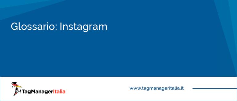 Glossario: Instagram