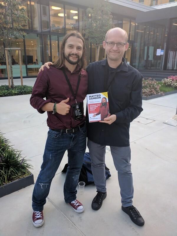 Matteo Zambon e Mikko Piippo al MeasureCamp Milan