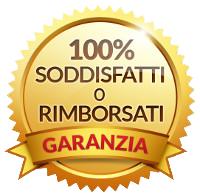 Garanzia 100% SODDISFATTI O RIMBORSATI