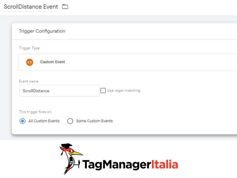 attivatore tracciare scroll pagina google tag manager