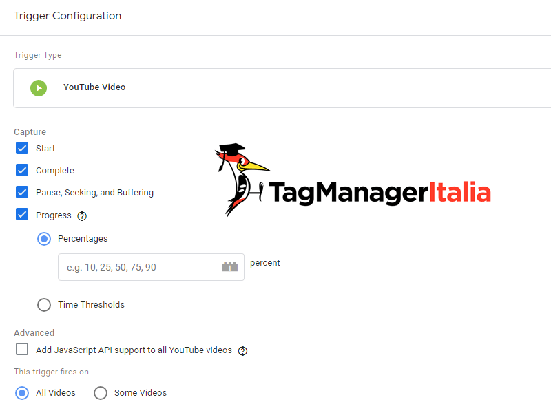 attivatore youtube google tag manager 3
