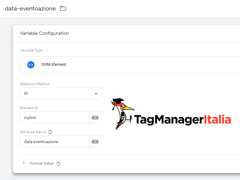 data eventoazione google tag manager