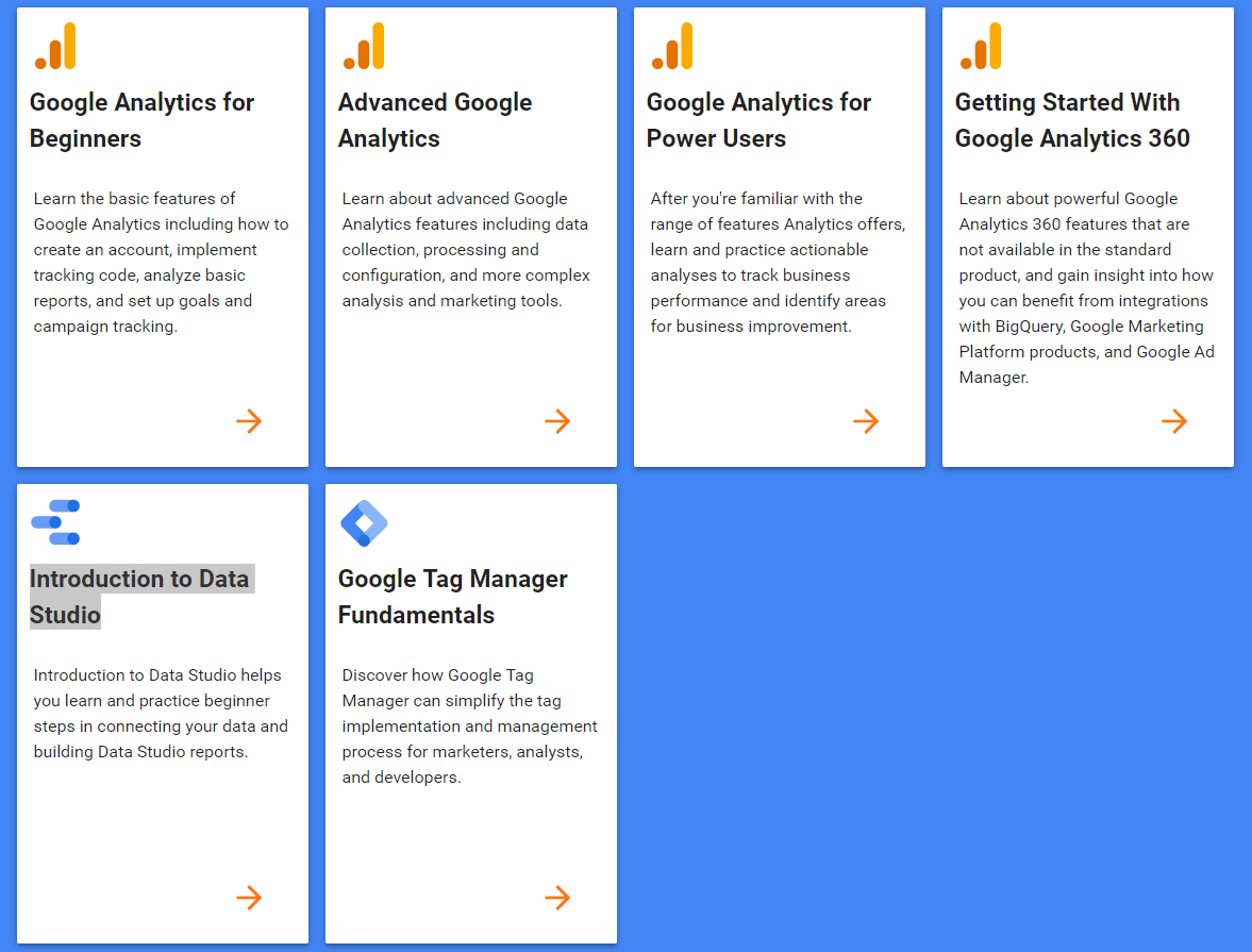 formazione google tag manager - corsi google analytics academy