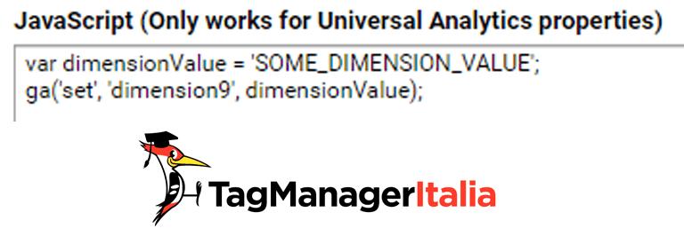 indice dimensione personalizzata google analytics