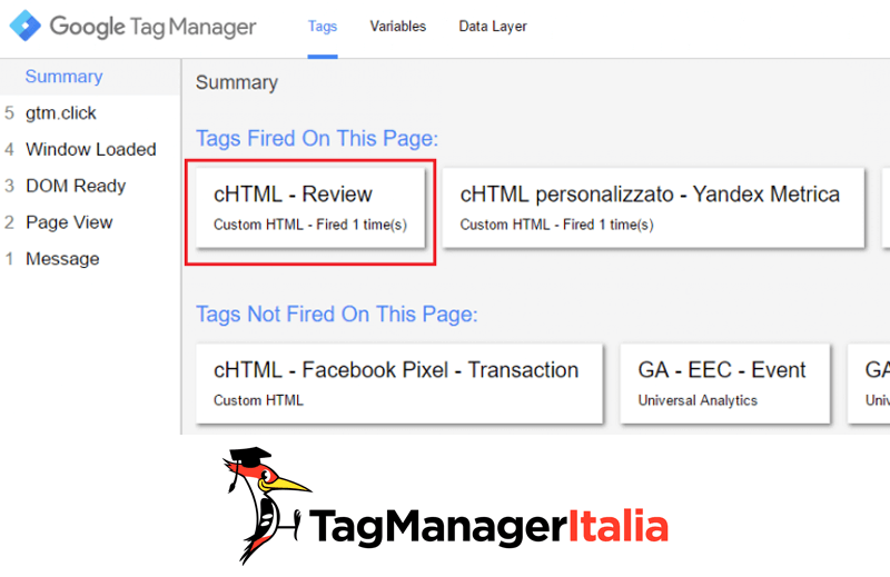 review seo google tag manager anteprima