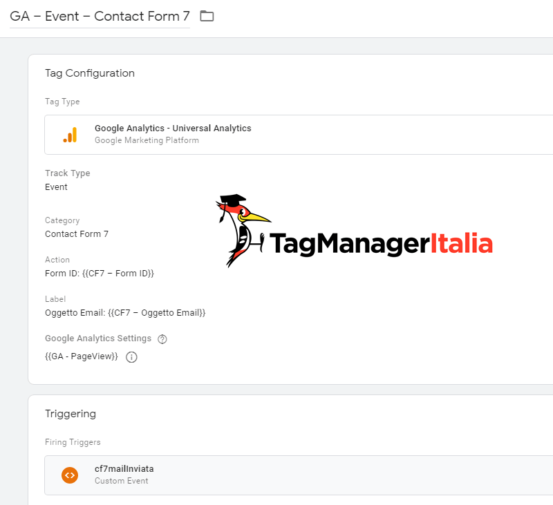 tag evento contact form google analytics