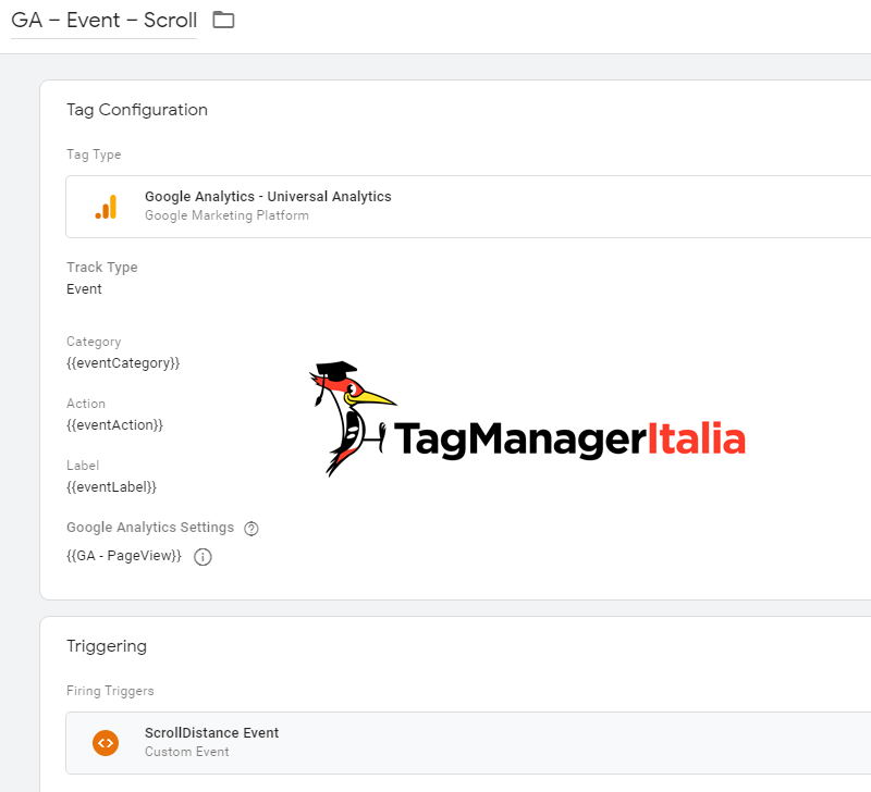 tag2 tracciare scroll pagina google tag manager