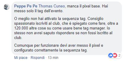 testimonianza Club Tag Manager ItaliaPeppe Pe Pe 05-02-19