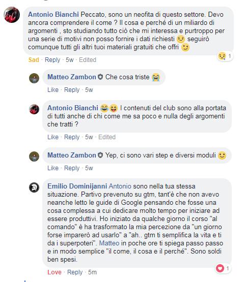 testimonianza club tag manager italia emilio dominijanni