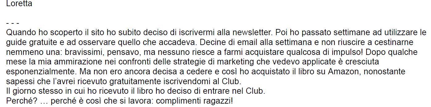 testimonianza club tag manager italia loretta paoletti