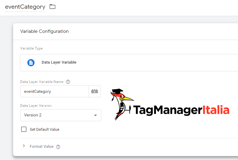 variabile livello dati video html5 google tag manager