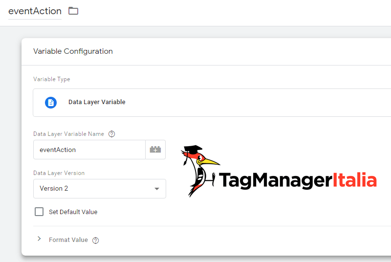 variabile livello dati video html5 tag manager