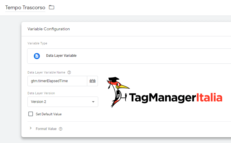 variabile tempo trascorso google tag manager