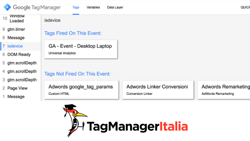 verifica tag desktop google tag manager