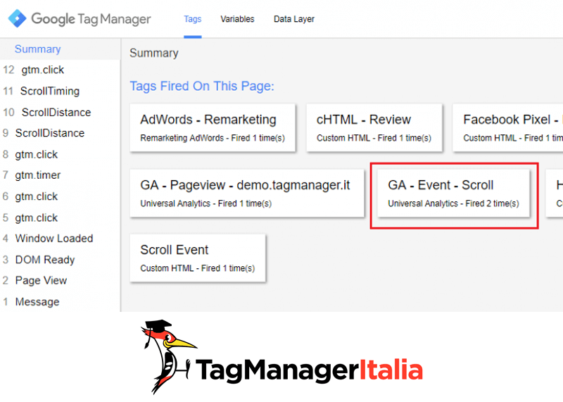 verifica2 tracciare scroll pagina google tag manager