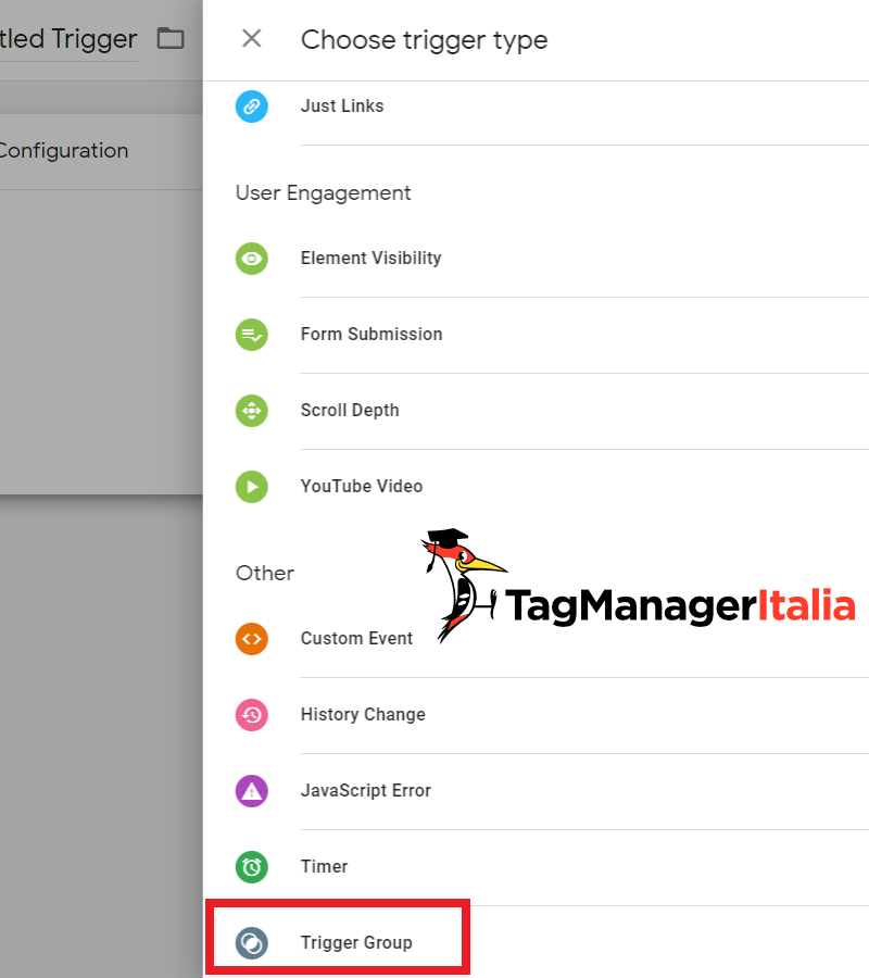Google Tag Manager new Trigger Group