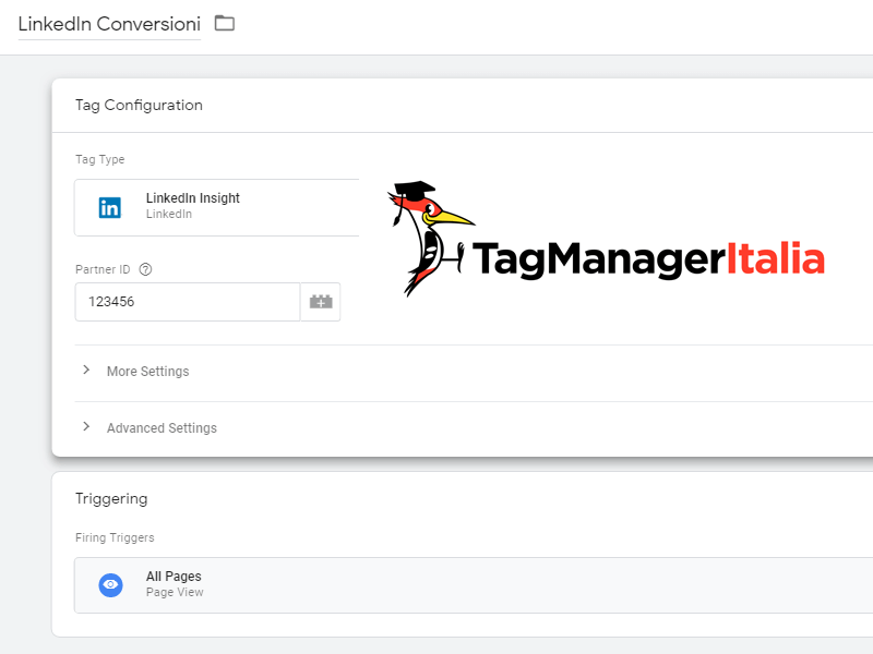 installare conversioni linkedin ads google tag manager
