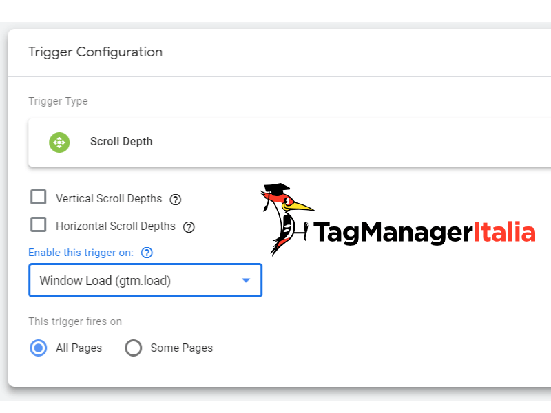news scroll depth google tag manager enable trigger