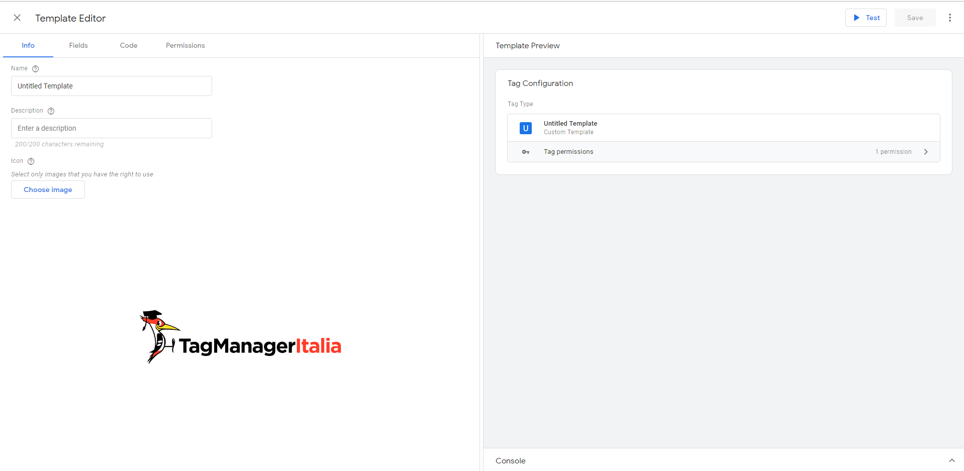 Editor Templates Google Tag Manager