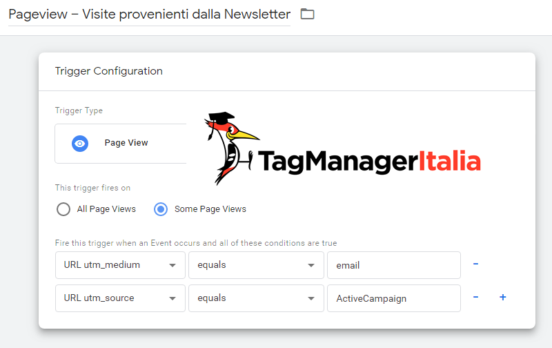 attivatore iscritti newsletter google tag manager