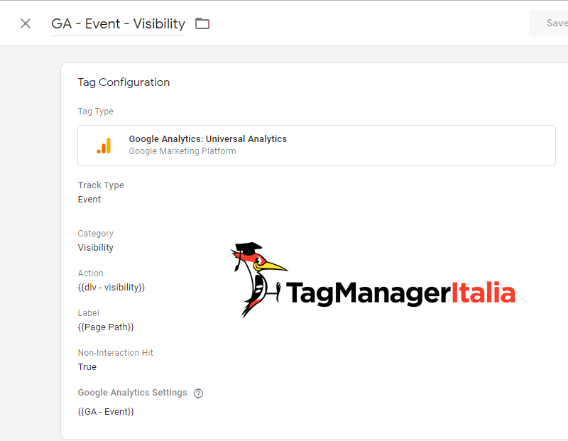 tag evento google analytics visibility google tag manager