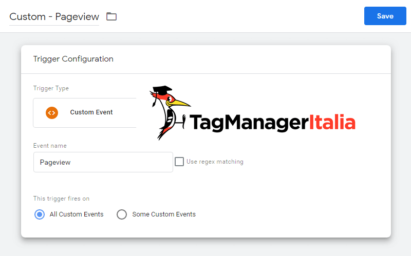 custom event data layer pageview