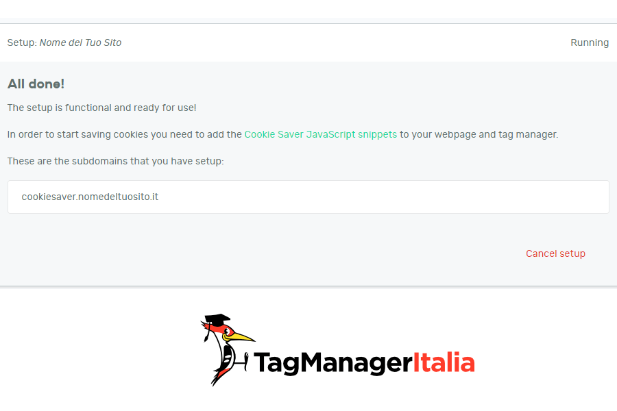 step 3 confirm DNS records on Cookie Saver
