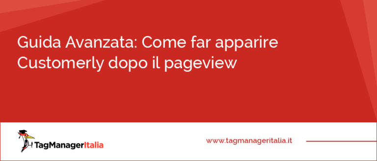 Guida Avanzata Come far apparire Customerly dopo il pageview