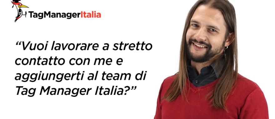 Jobs: Ricerca di un venditore per Tag Manager Italia