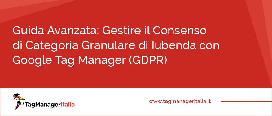Guida Avanzata GDPR Gestire il Consenso di Categoria Granulare di Iubenda con Google Tag Manager