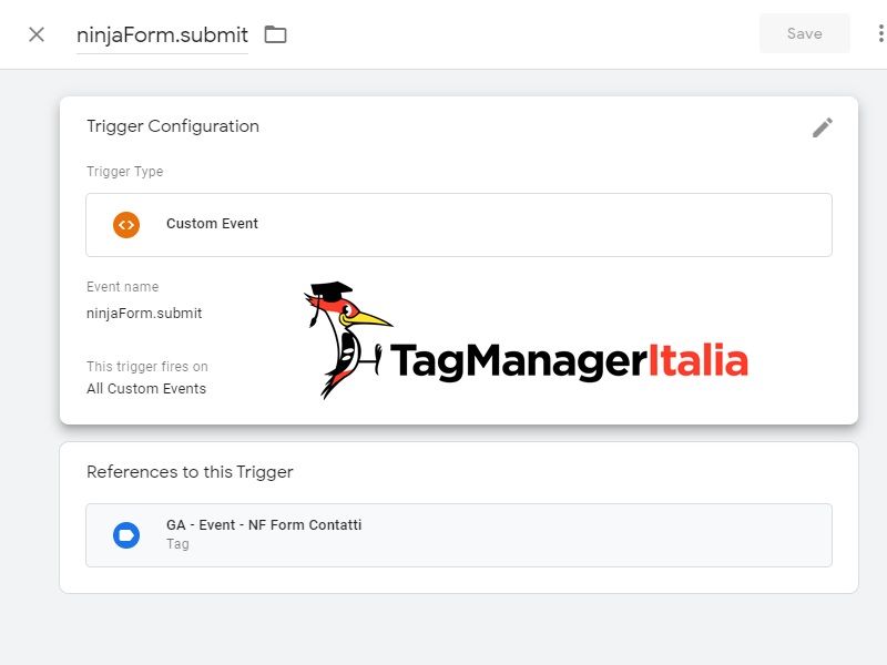 Ninja form evento formId con Google Tag Manager