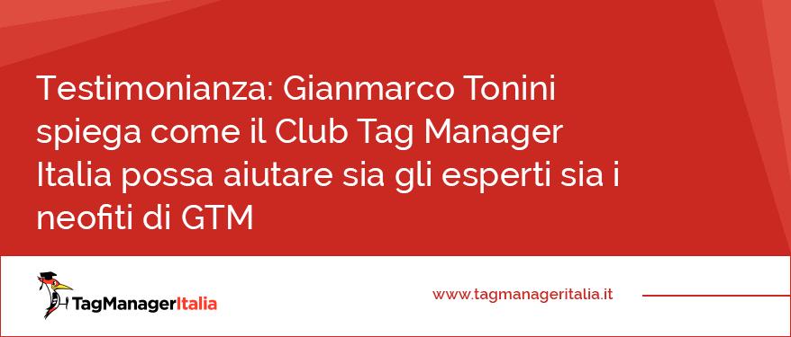 Testimonianza Gianmarco Tonini