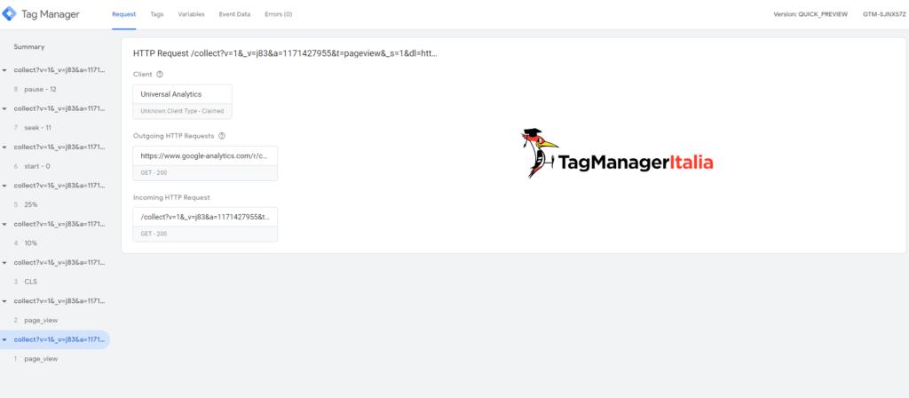 debug google tag manager server side