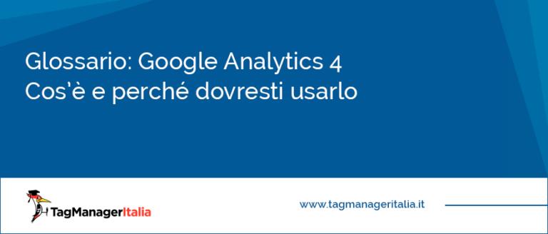 Glossario Google Analytics 4